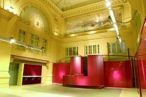 L'Hôtel des Ventes vide, vue sur le système de blocs modulaires